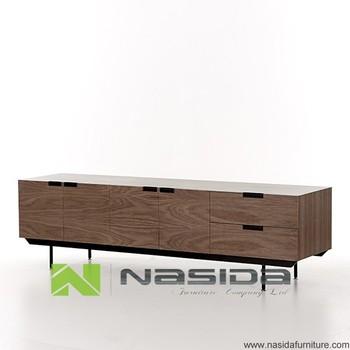 Lowboard Modern nd523 a walnut modern sideboard shulman lowboard sideboard in