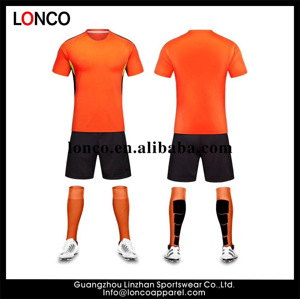 Oem Blank Orange Jersey Black Short