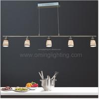 Restaurant kitchen decoration stain glass chrome pendants light for chandelier hang lamp