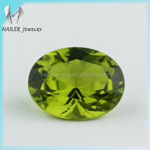 AAAAA Names Oval Green Nano Spinel Gemstones