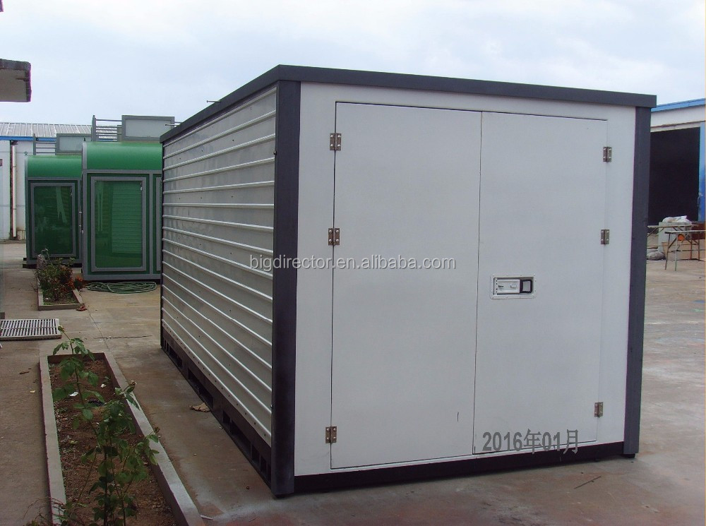 Portable Steel Storage Units : Prefabricated flat pack portable storage containers buy