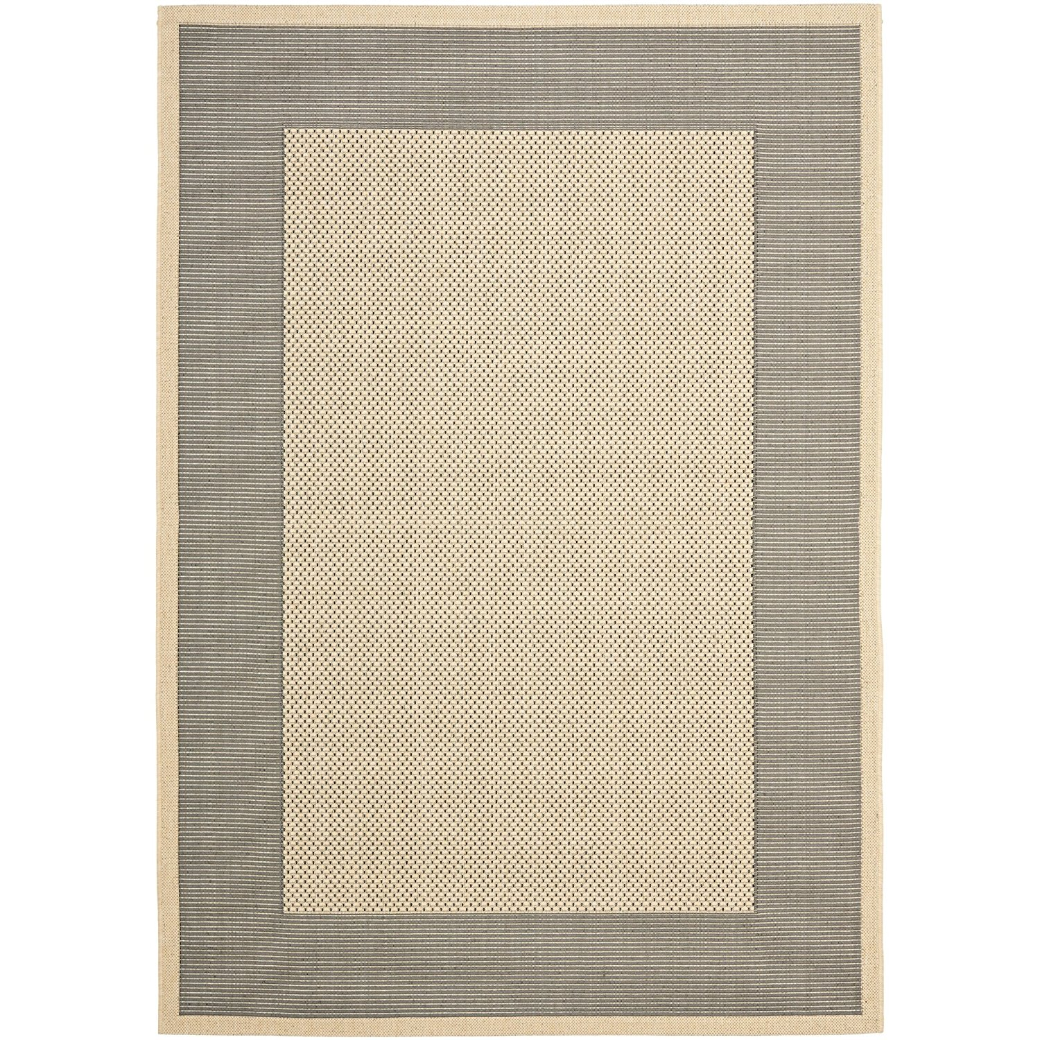 """Safavieh Courtyard Collection CY7987-65A5 Grey and Cream Indoor/ Outdoor Area Rug (5'3"""" x 7'7"""")"""