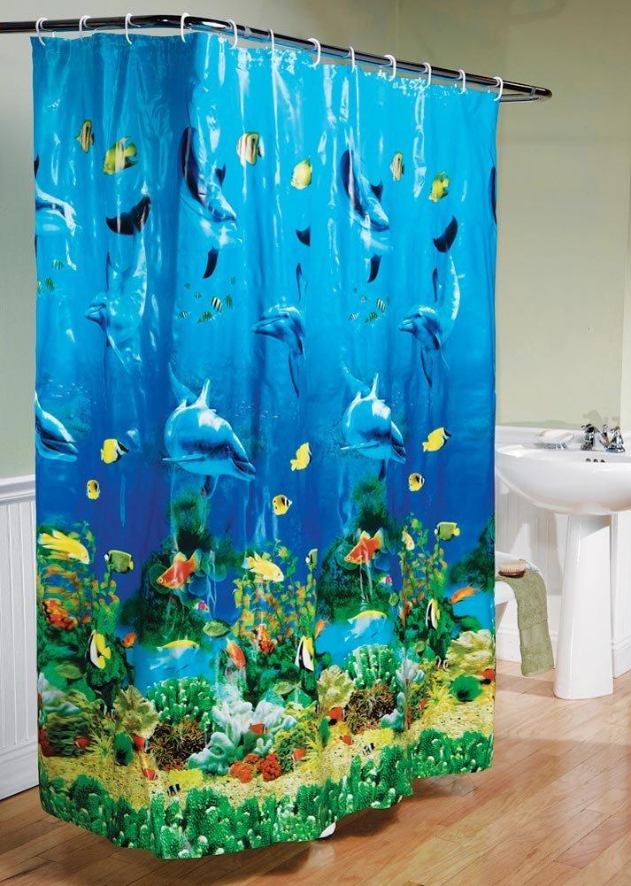 Cheap underwater shower curtain find underwater shower curtain under the sea dolphin bay underwater colorful shower curtain and dolphin bath mat gumiabroncs Choice Image