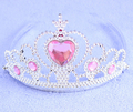 3pcs set Mix 9colors CZ Diamond Fro zen Crown Hairband Nice Girls Children s Day Gift
