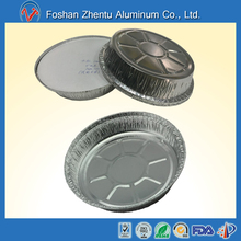 Food grade free-pollution heavy duty 8 inch to 12inch round disposable aluminum foil food tray
