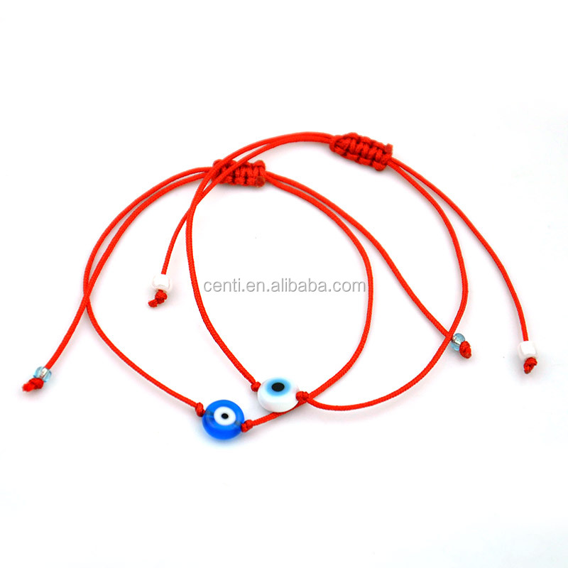 Evil Eye Bead Adjustable Red String Bracelet Cheap Luck Bracelet For Promotion Luck Red Cord Friendship Bracvelet