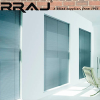 RRAJ Aluminum Slat Rainproof Venetian Blinds Curtain