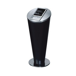 Hotel Lobby Stainless Steel Standing Waste Cans Ash Barrel Ground Ashtray Bin