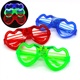 Hot sale party decoration christmas glasses glow in the dark led light glasses