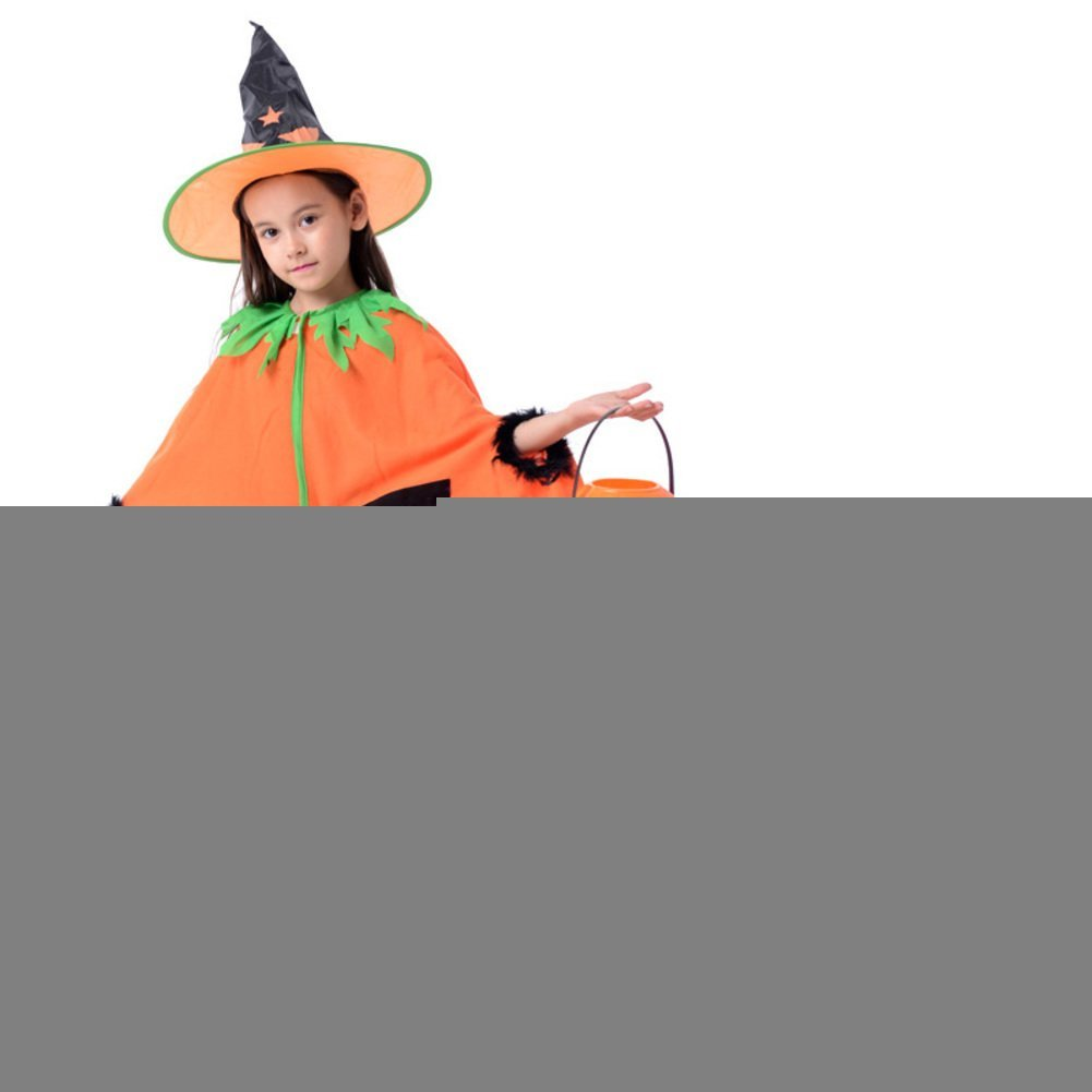 Halloween children's clothing/Cloak Set/Demon witch magician/Children's clothing pumpkin Cloak-F