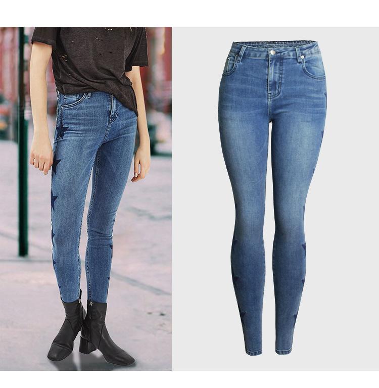女性のジーンズの女性デニムプリントジーンズジャケット