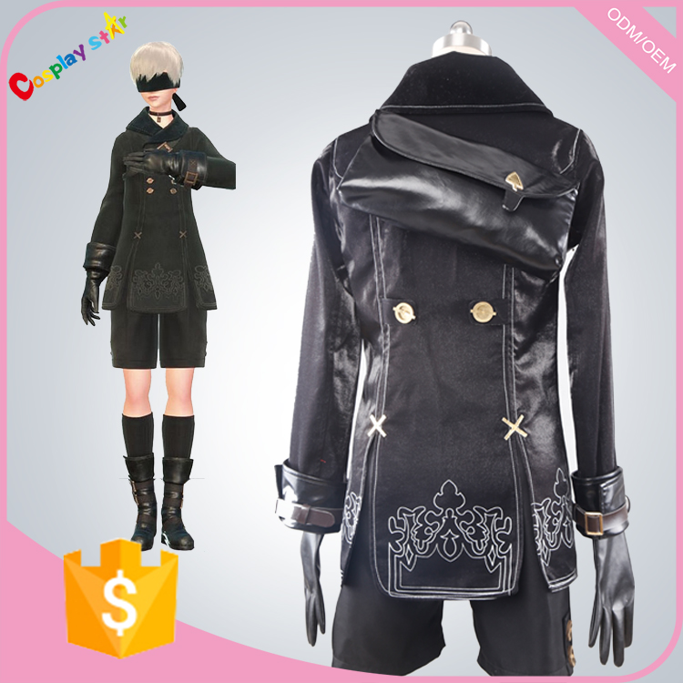 Hot Game Nier: Automata 9s Fighting robots Cosplay Costume all sizes