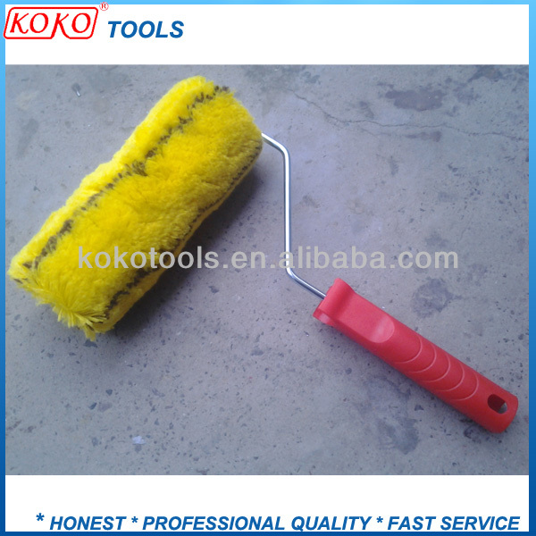 "9"" black line YELLOW color paint roller brush"