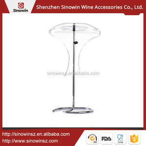 Traditional Wine Decanter Metal Holder For Glassware