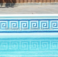 mosaic border pattern for swimming pool wall