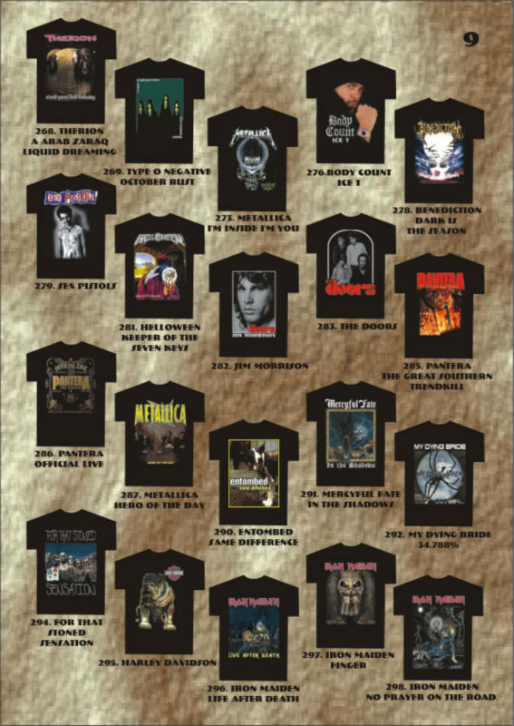 Rock Band t-shirts wholesale