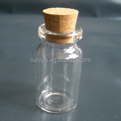 10ml high quality clear crown glass vials with cork