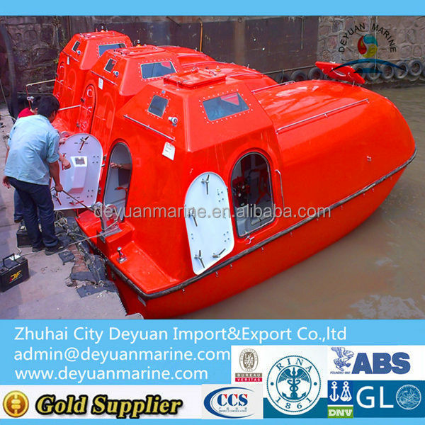 Big Size Frp Totally Enclosed Lifeboat And Rescue Boat