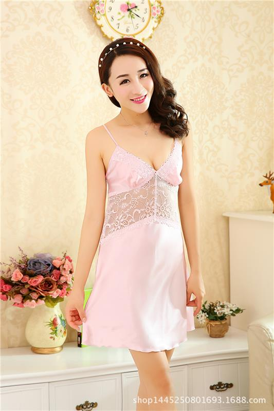 nightwear nighty ladies evening dress silk sleepwear women private logo label satin sexy robes