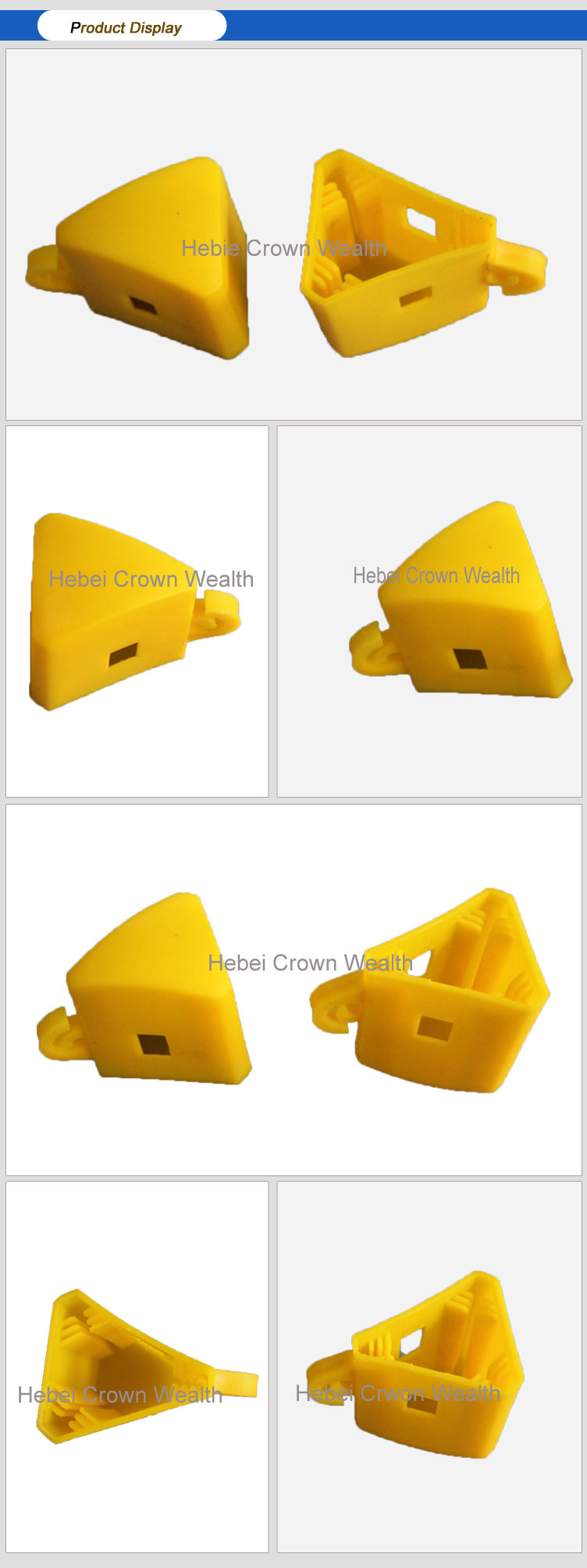 Yellow Star Picket Y Fence Post Cap