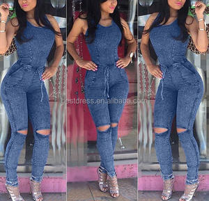 743c2e86c1d Walson Sexy New Women s Denim Blue Jeans Playsuit Jumpsuit Overall Skinny  Slim