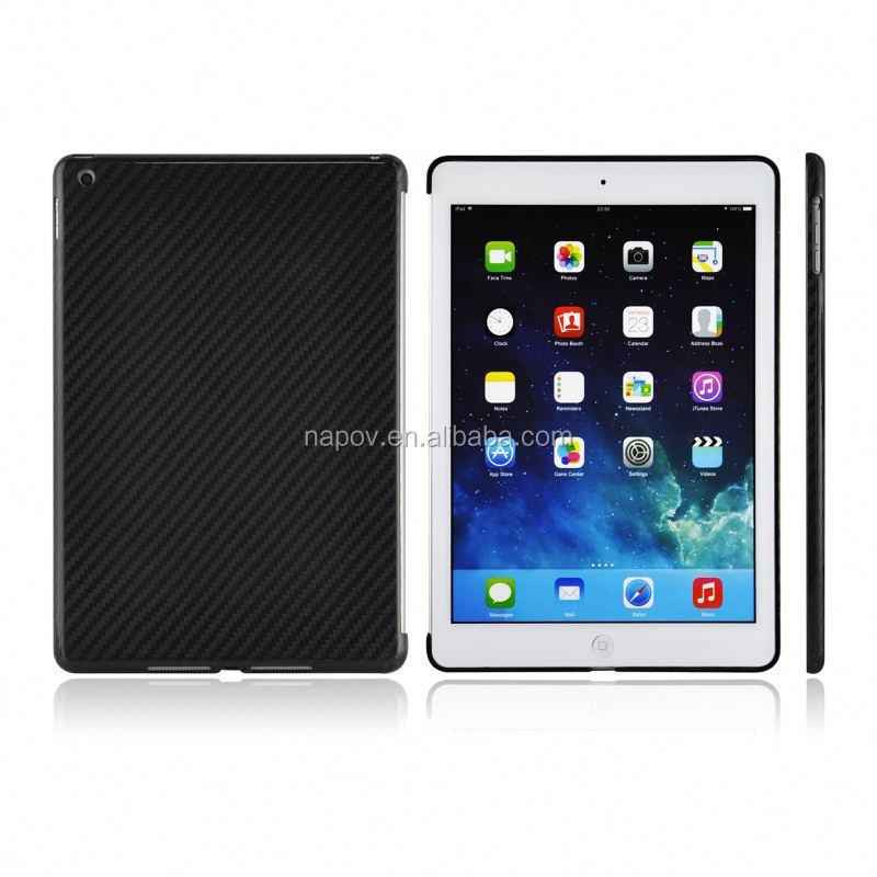 China supplier hand-made genuine black carbon fiber case for apple ipad air 2 16gb