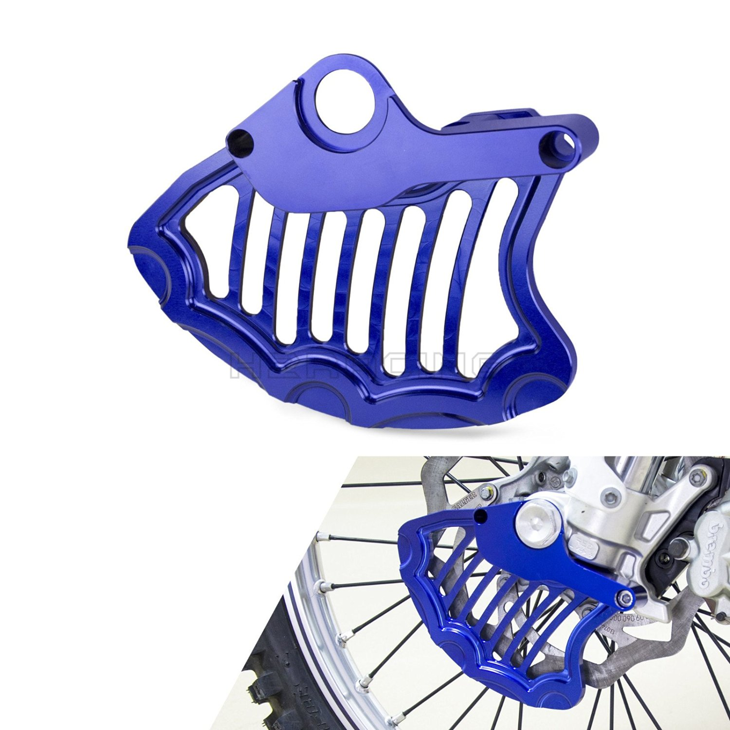 CNC Front /& Rear Brake Rotor Disc Guard for KTM 125-450 SX//XC//SX-F//XC-F 2015-Up