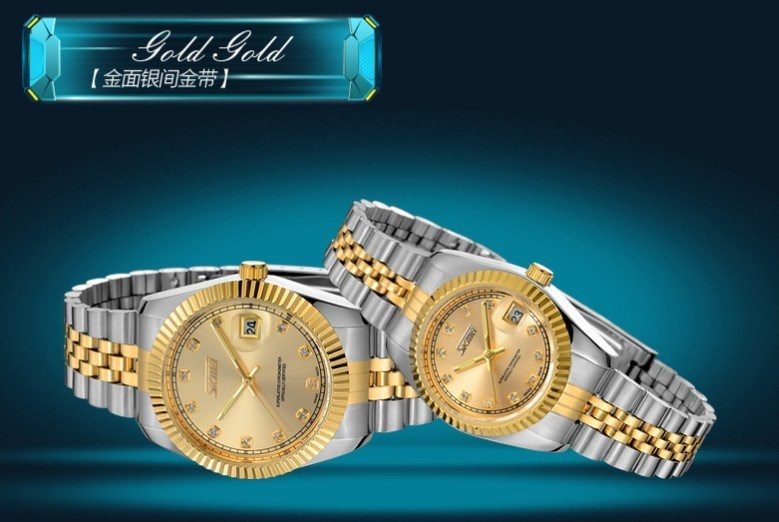 Wholesale Price Stainless Steel Gold and Silver Color oem watch skeleton