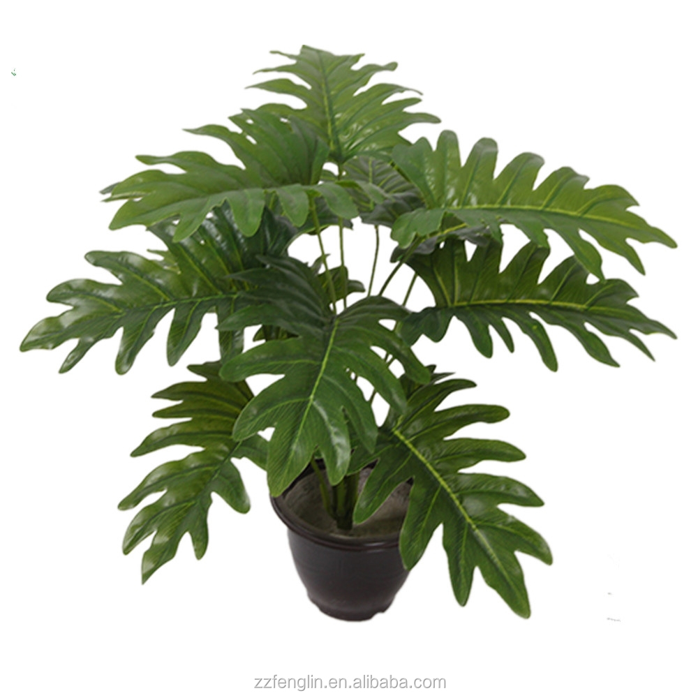 "12 leaves palm tree artificial plants bush lifelike leaves(18"" tall"