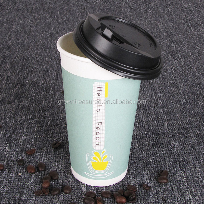 Disposable paper coffee cup/Cheap factory price cup paper/Turkey market coffee paper cup from Hubei manufacturer