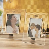 cheap frameless glass picture frames 3x5 in bulk
