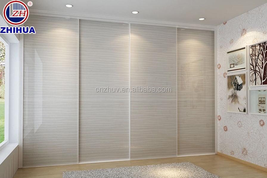 Contemporary Style Wardrobe Cabinet Closet Sliding Doors