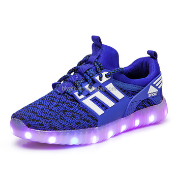 Kids LED light up sport shoes casual shoes for children fashion wholesale mesh shoes