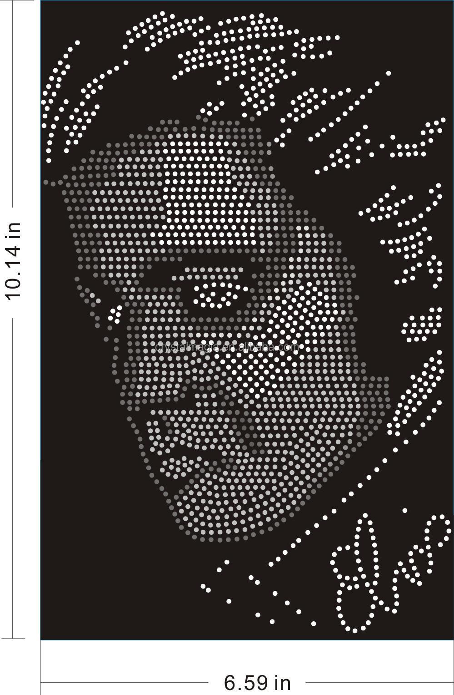 Elvis goedkope strass overdracht ontwerp westerse zanger hot fix ijzer op appliques buy - Loodvrije kristal ...
