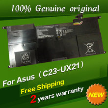 Free shipping C23-UX21 C22-UX21 Original laptop Battery For Asus Ultrabook ZENBOOK UX21 UX21A UX21E 7.4V 4800MAH 35WH