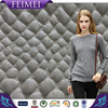 Feimei 92% Polyester 8% Spandex Knit Jacquard Suede Fabric With PU Coated