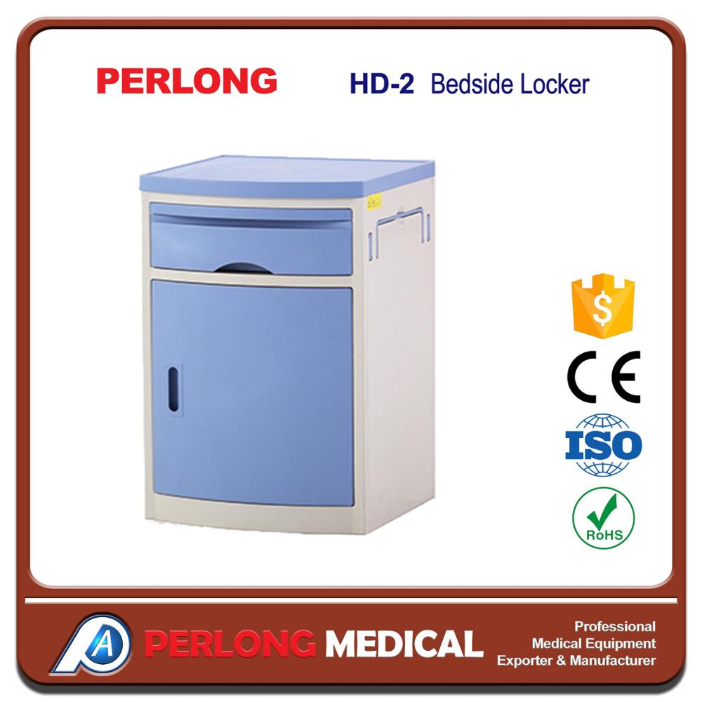 high quality and cheapest abs medical bedside tables plastic storage cabinet locker