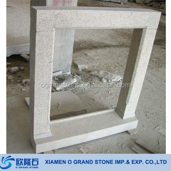 French Decorative Window Frames Natural Granite Stone
