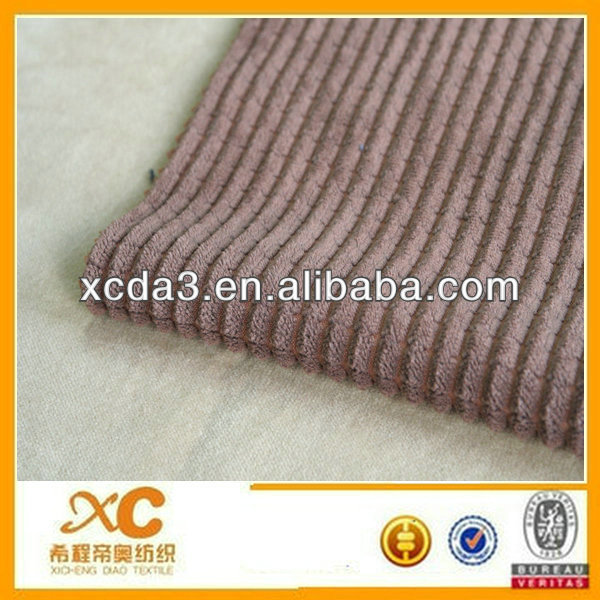 wide wale corduroy textile China 8 Wales cotton dyed Corduroy manufacturer