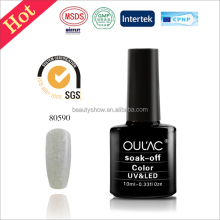Silvery and rich color 4-5 free test samples soak off UV/LED nail gel polish