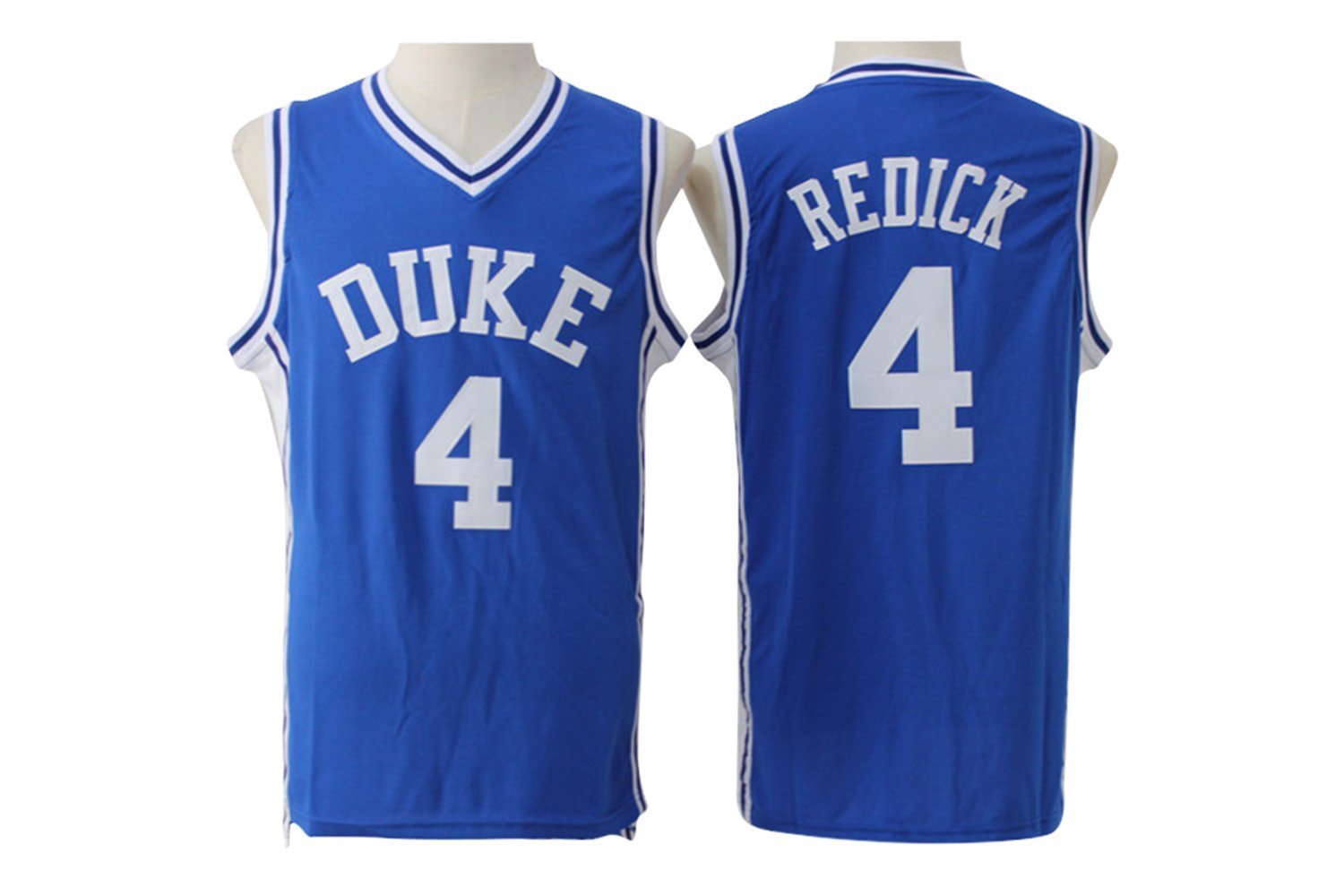 e66e6e1e48d4 Men s Duke University  4 J.J. Redick Basketball Jersey 100% Stitched Mesh Throwback  Jersey 004