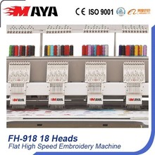 18 Heads High Speed Flache Stickerei Maschine