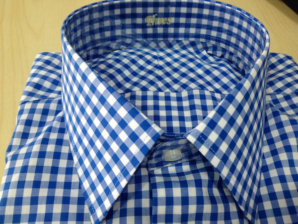 Men Shirt - Blue - White Checkered 100% Cotton - Buy Tailor-made ...