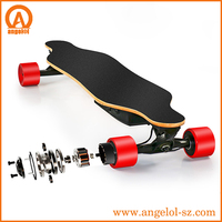 Electric skate board with remote control 4 brushless engines motor board skateboard glides long cruising