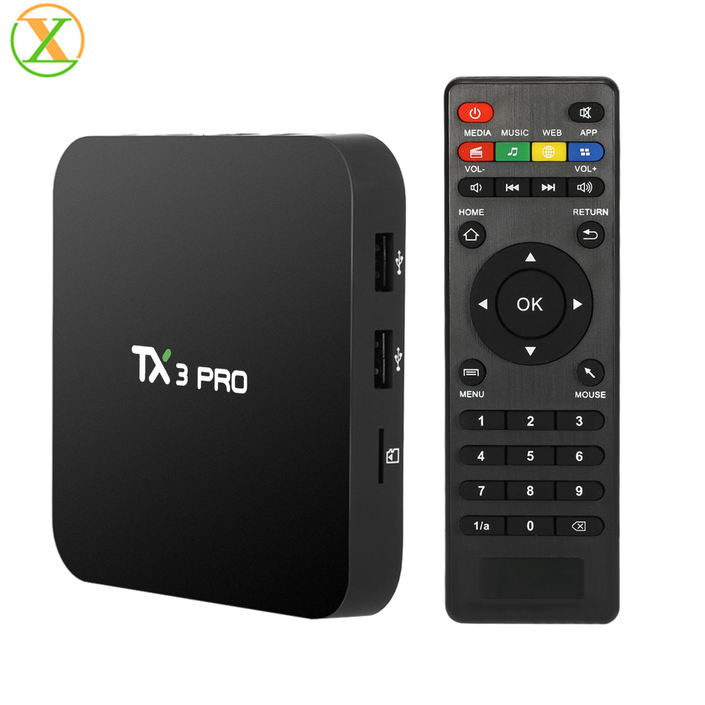 Most popular TX3 pro S905X quad core android 6.0 marshmallow tv box preinstalled app download sat box tv