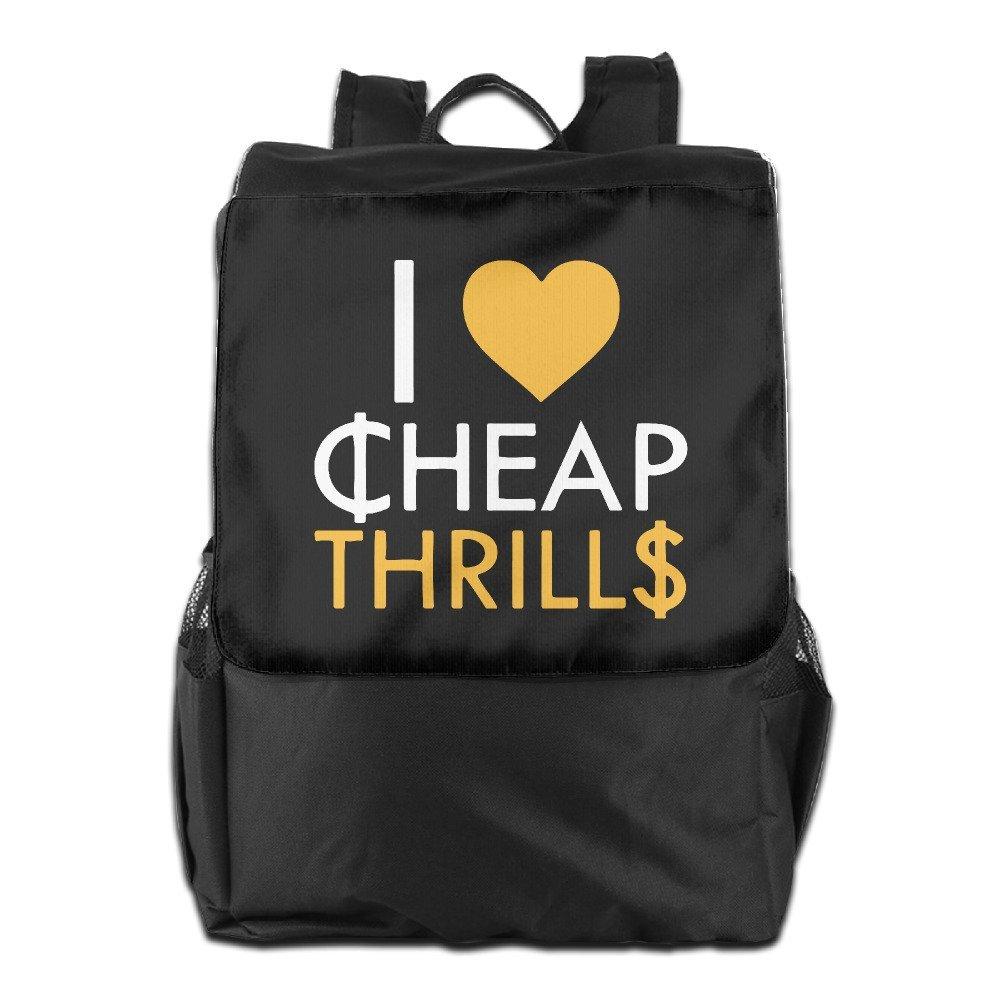 Unisex I Love Cheap Thrills Sia Travel School Backpack