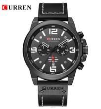 CURREN Мужские часы Топ люксовый бренд водонепроницаемые спортивные наручные часы хронограф кварцевые военные из натуральной кожи Relogio Masculino(Китай)