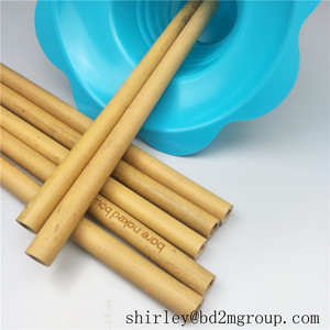 Big inner diameter 6-8mm natural bamboo drinking straws with customized LOGO