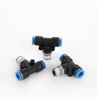 PB-G T type Air Hose Quick Connector Pneumatic Fittings connector tee joint fitting with o-ring