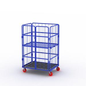 Galvanized Nestable Folding A Frame Roll Cage steel Wire Mesh material handling carts